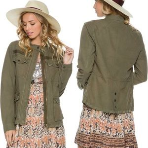 Revolve Free People Rumple Army Jacket Olive Green